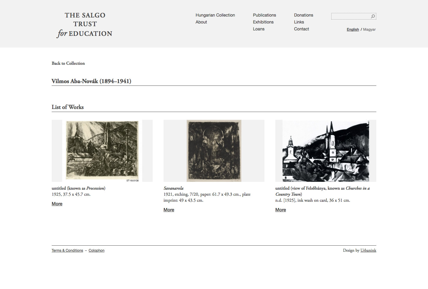 Salgo Trust artist page