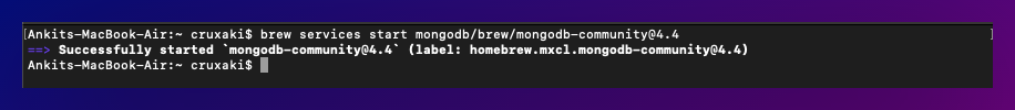 starting mongoDB services from mac terminal