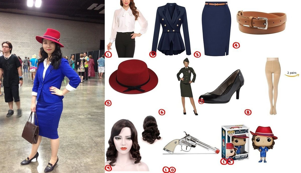 dress like agent peggy carter costume for halloween 2018