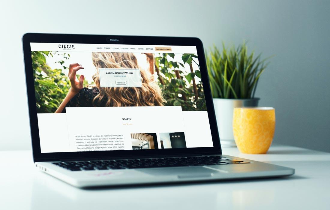 Strona internetowa salonu fryzjerskiego cięcie