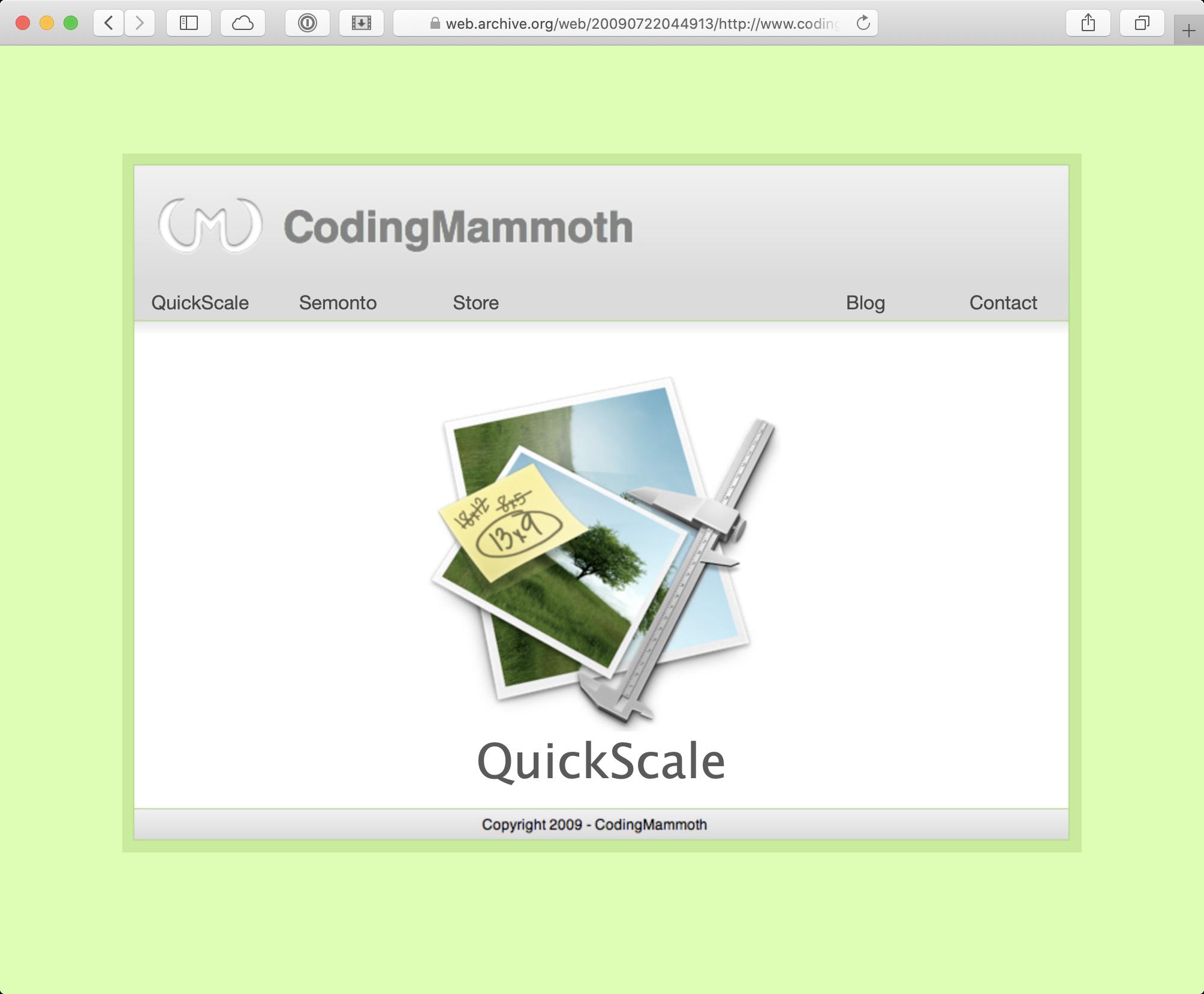 Website Coding Mammoth 2009
