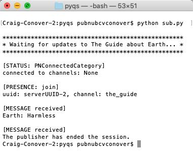 sub.py - Subscriber terminal