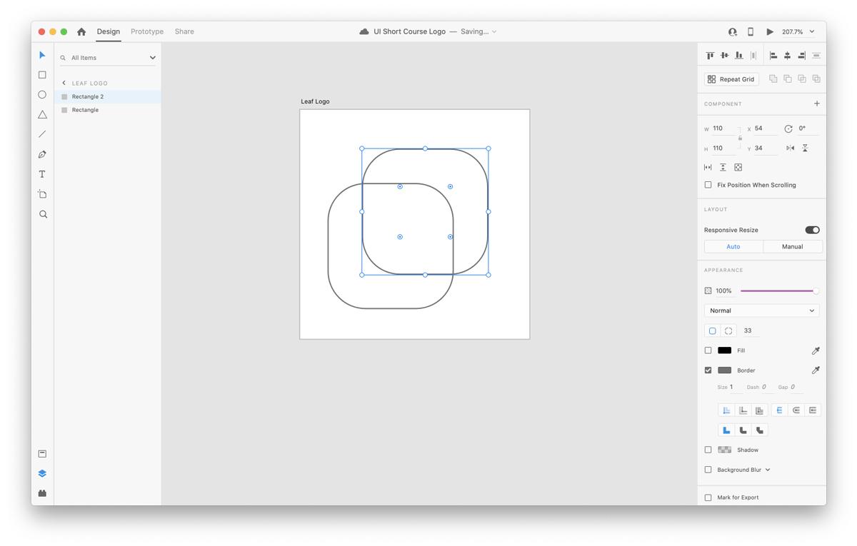 Duplicating layers in Adobe XD