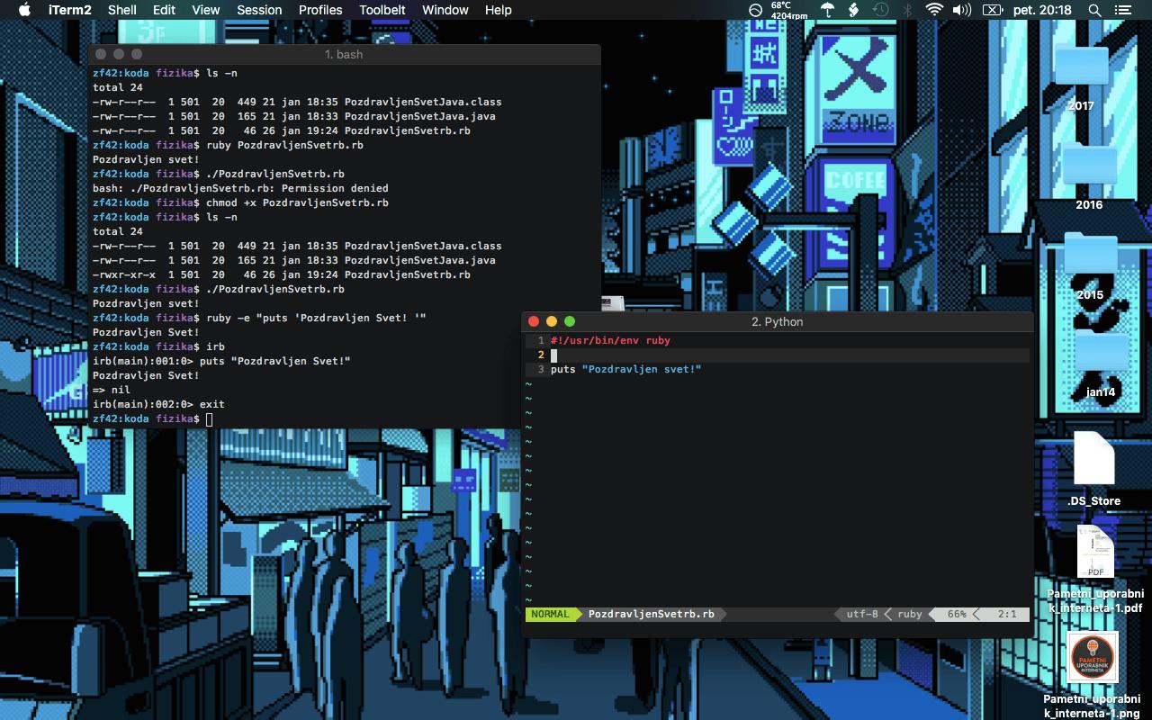 Slika 13: OSX in Linux Ruby