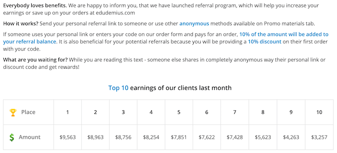 edudemius.com referral program info