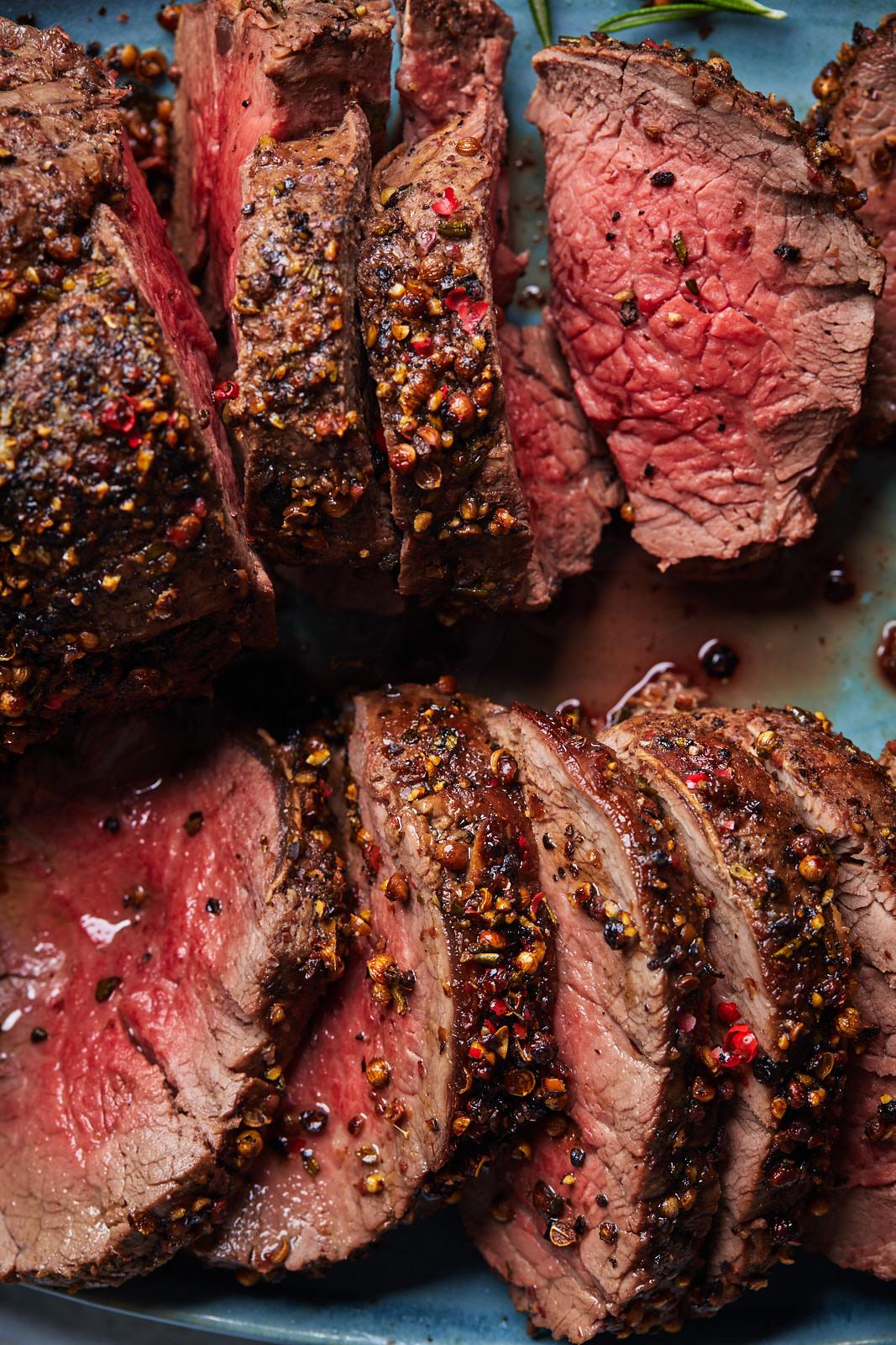 Peppercorn Roasted Beef Tenderloin