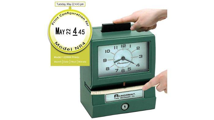 BP125NR4 Battery Powered Manual Time Clock