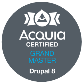 Acquia Certified Grand Master - Drupal 8 Exam Badge