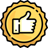 recommendation thumbs up badge