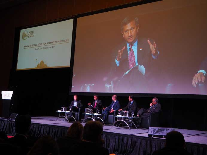"""""""Innovative Solutions for a Smart City"""" Conference at World Cities Summit 2016"""