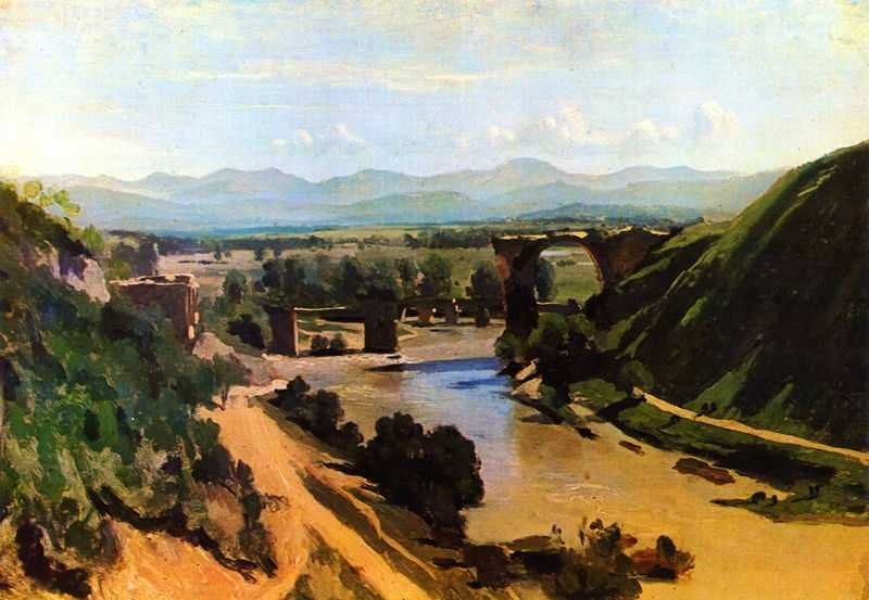 The Bridge at Narni, by Camille Corot 1826, Louvre