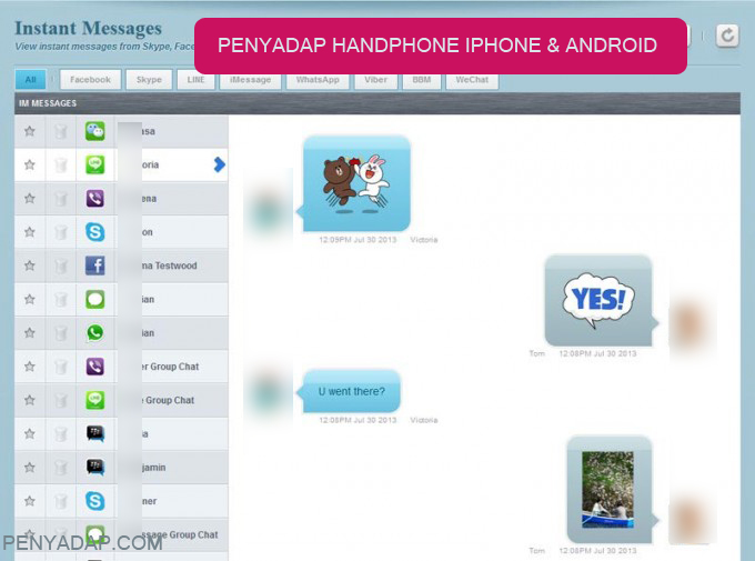 aplikasi penyadap HP dengan flexispy sadap chating BBM whatsapp, facebook, line dan skype