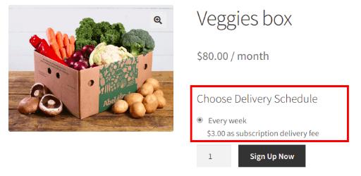 Veggies box