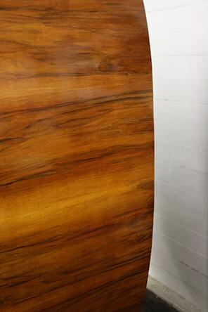repaired veneer damage on art deco display cabinet