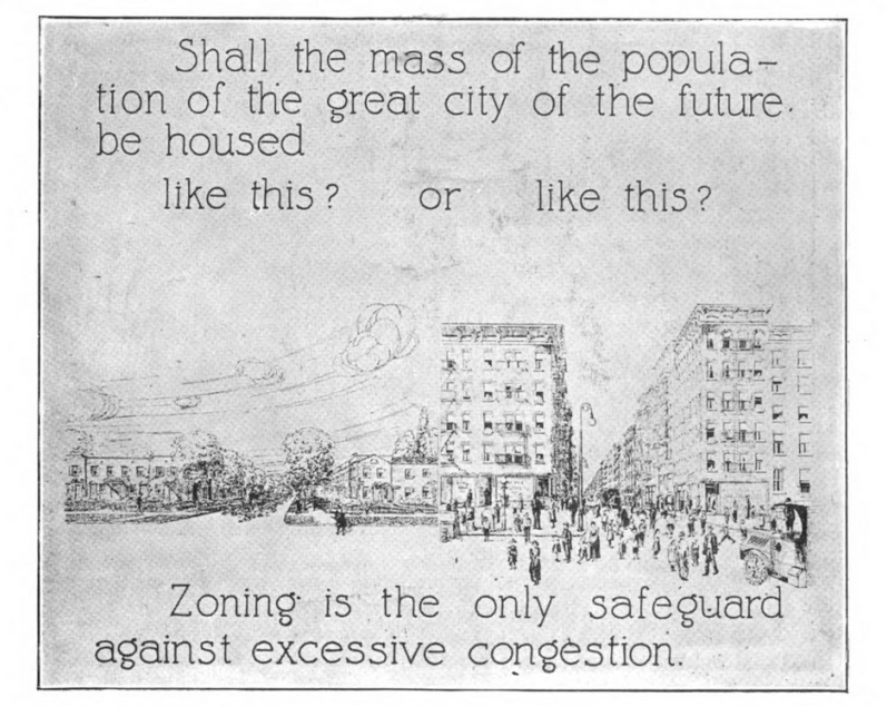 """""""Shall the mass of the population of the great city of the future be housed like this or that?"""""""