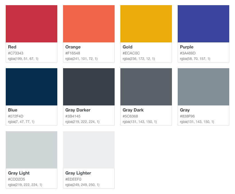 DonorMetrics Color Palette