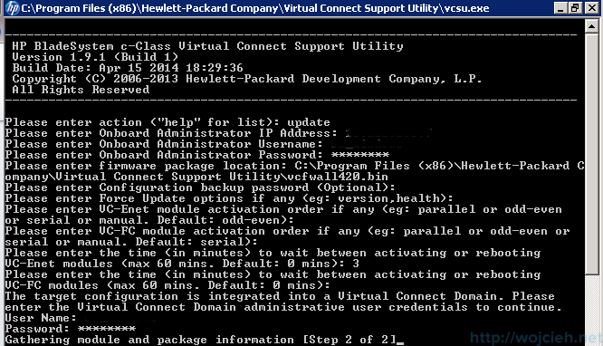 HP Virtual Connect firmware upgrade 4