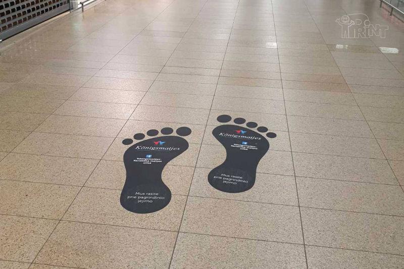 Lipdukų pavyzdžiai ant grindų