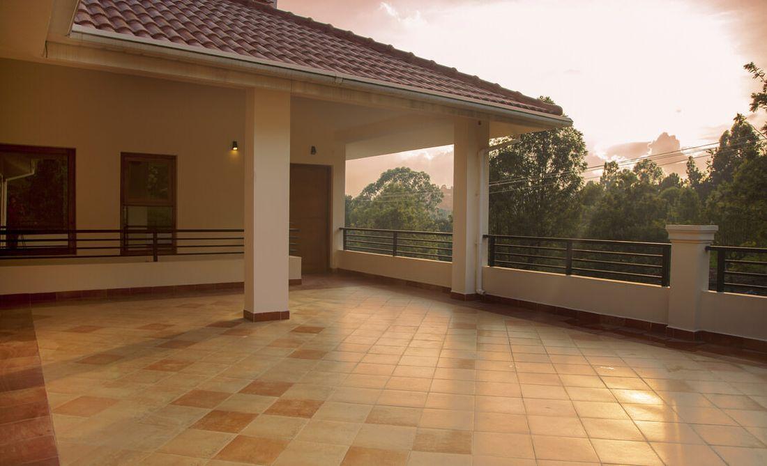 Entrance terrace at Bournville
