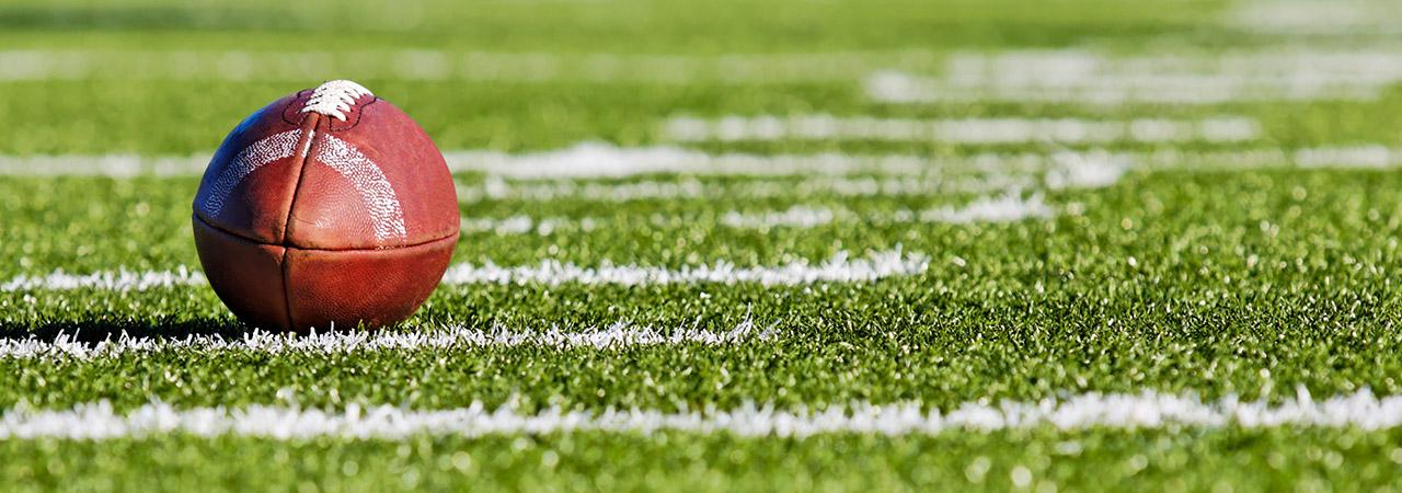 Football on a football field