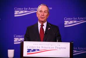 Michael Bloomberg addressing the Center for American Progress