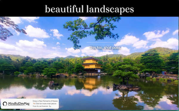 inner peace relax with beautiful landscapes