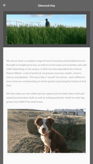 Desktop screenshot of Glenrock Hay