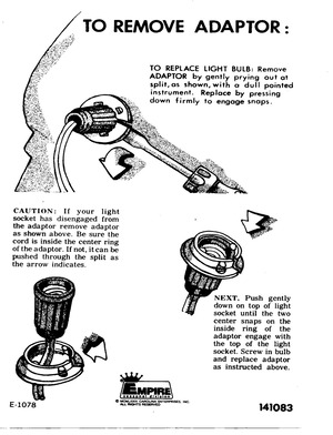 Empire Candelabra Base Socket Installation Instruction Manual (1979) preview