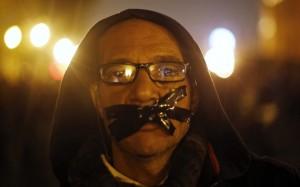 An anti-Mubarak protester in Tahrir Square, in November 2014 (Amr Abdallah Dalsh/Reuters)
