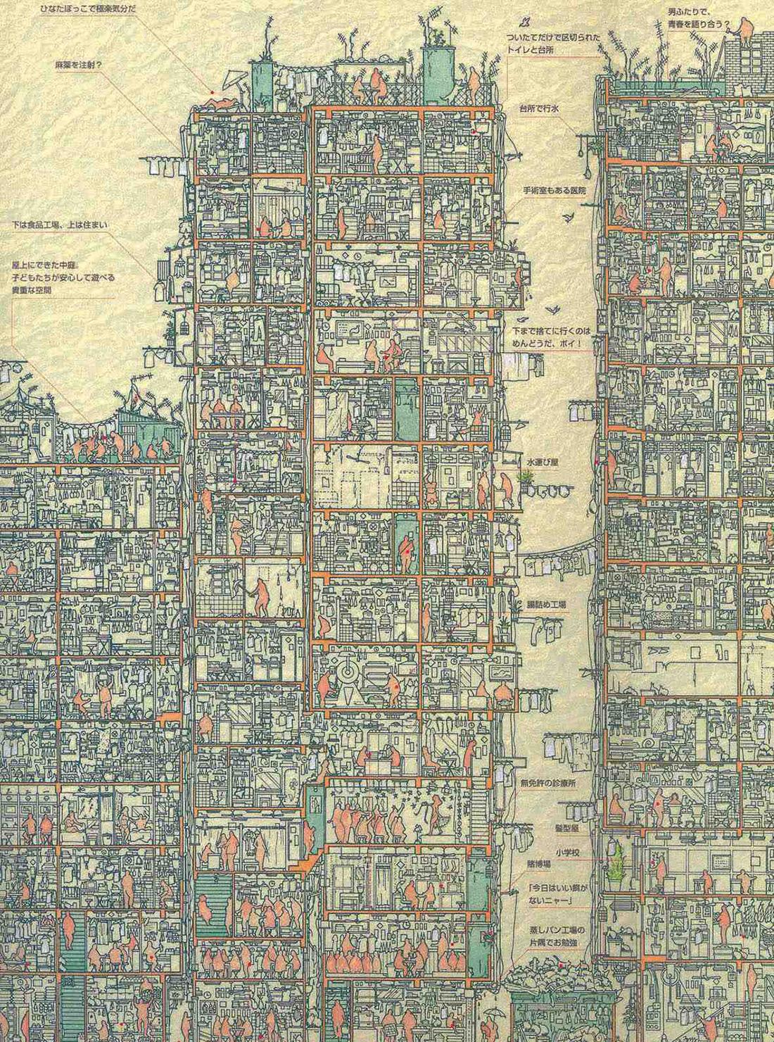 Kowloon Walled City - Hong Kong