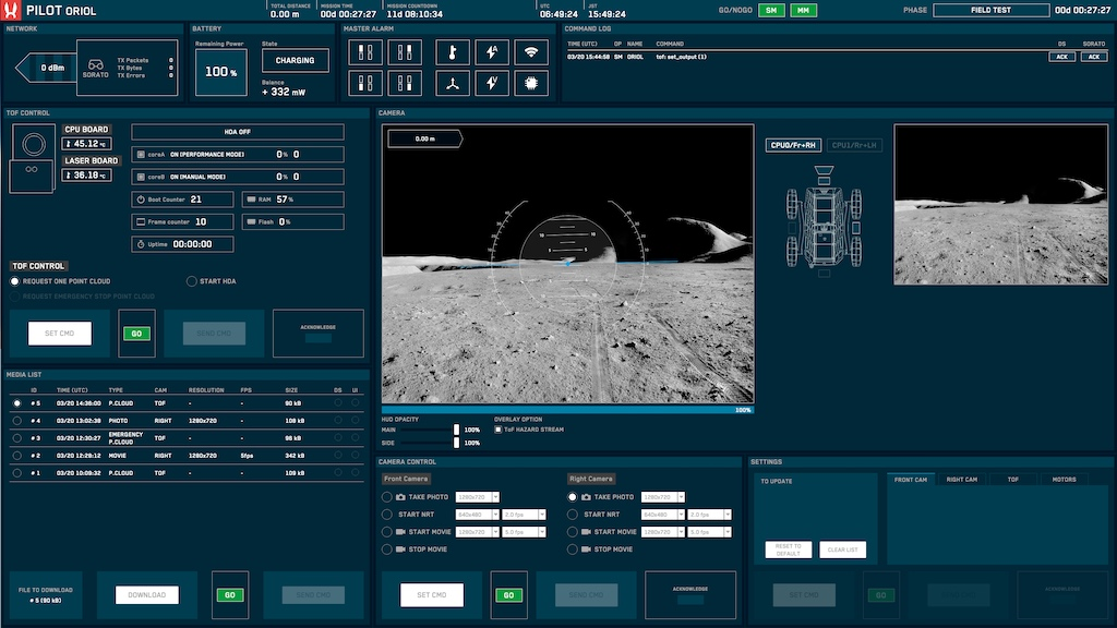 Second screen of the Pilot interface.