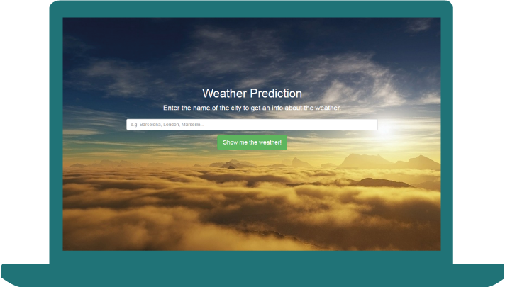 Weather Prediction - laptop