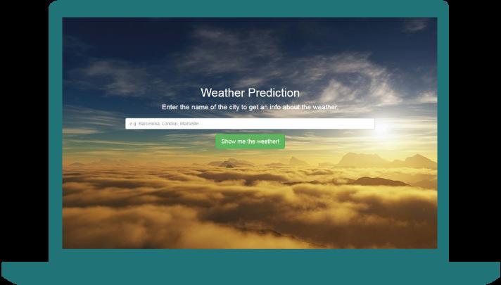Weather Prediction - laptop