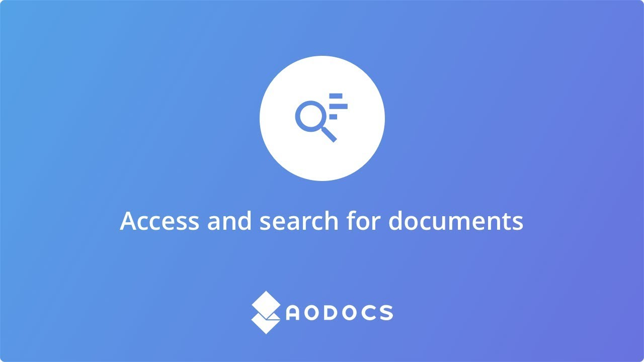 Access and search for documents's thumbnails