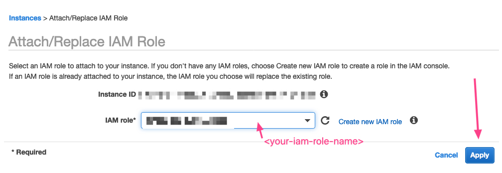 Select IAM Role