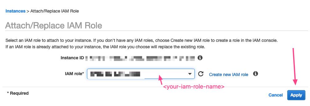 Select IAM Role