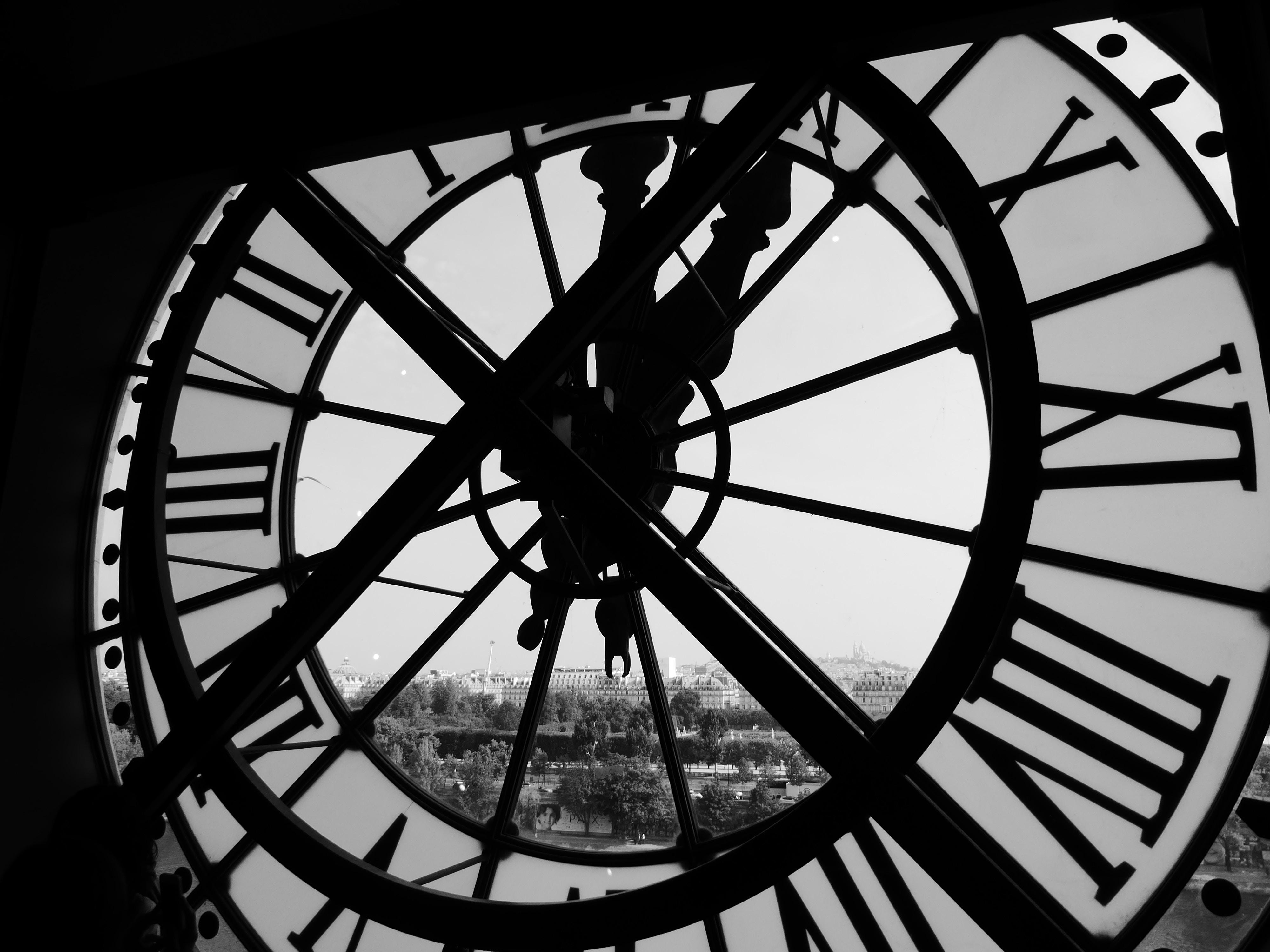 Foto de um relógio