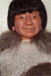 closeup eskimo man doll