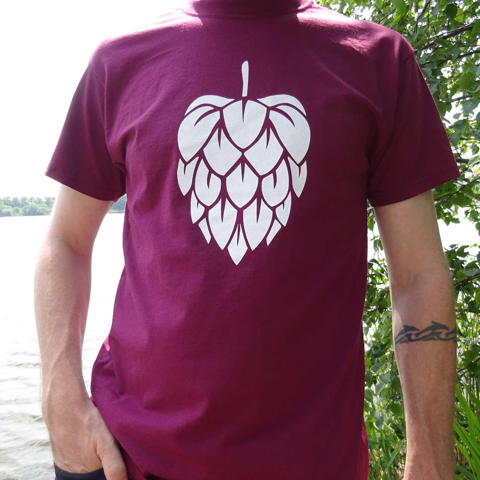 T-Shirt Hop - Burgundy