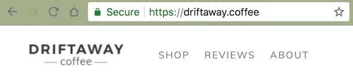 Driftaway coffee domain name