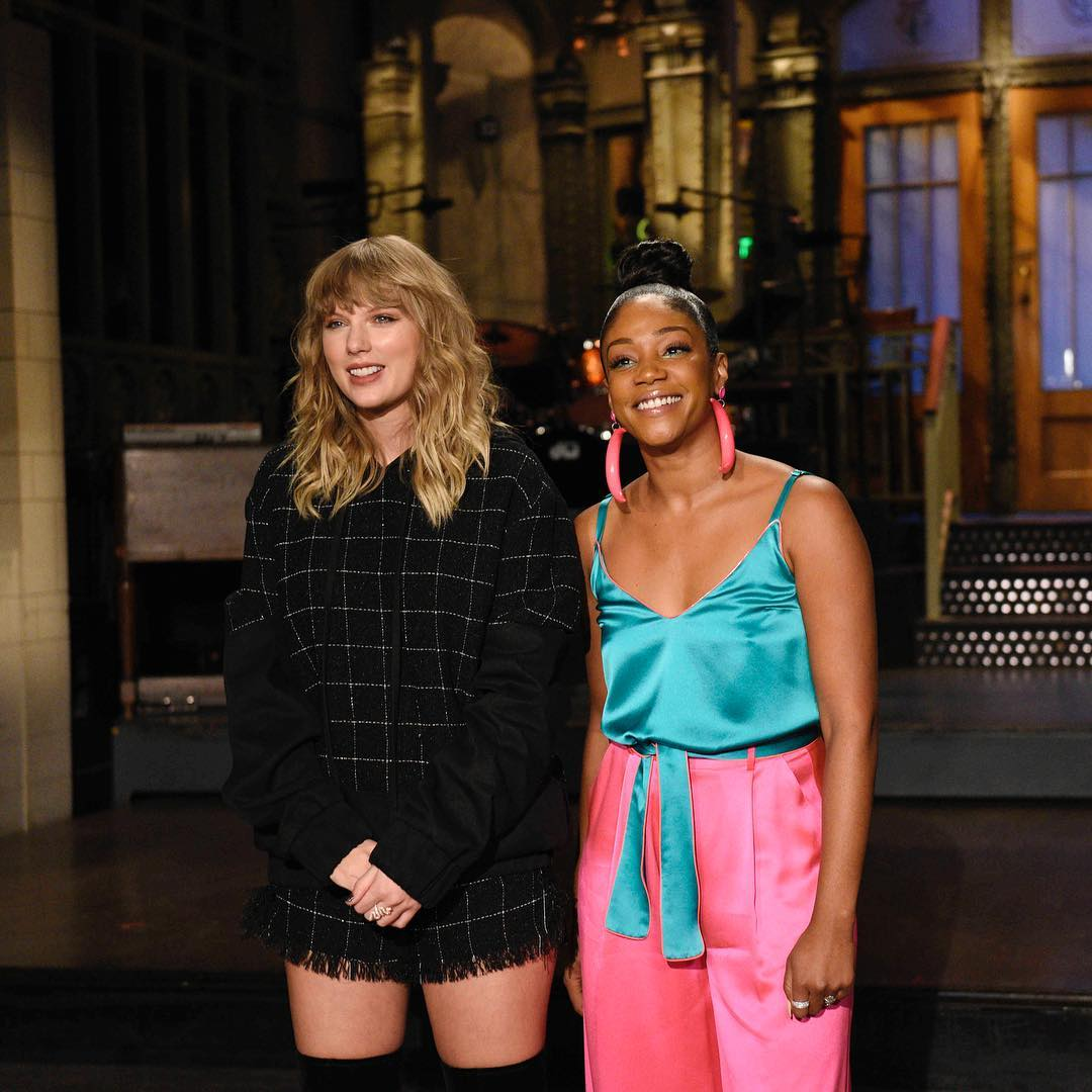 Taylor Swift and Tiffany Haddish