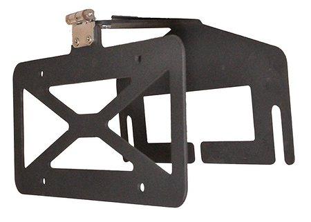 flip-up winch license plate mount