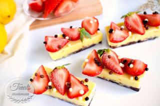 Chocolate, Lemon and Strawberry Entremet