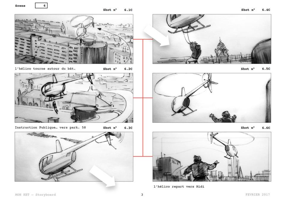Feature film storyboard: Mon Ket, also known as Dany