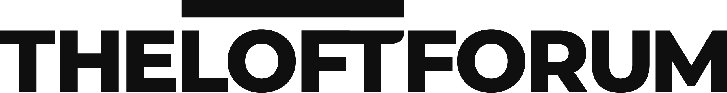 The Loft Forum Black Logo