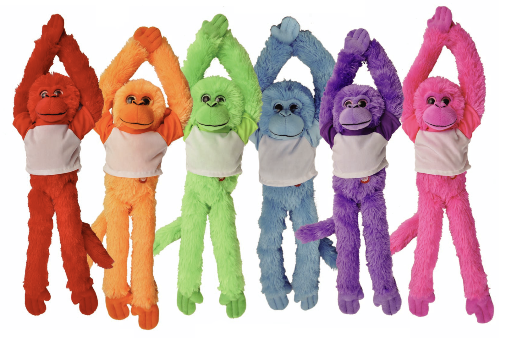 "The Petting Zoo: 20"" Rainbow Hanging Monkey Assortment"