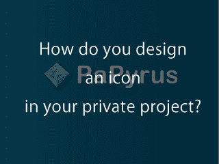 How do you design icon in your private project?