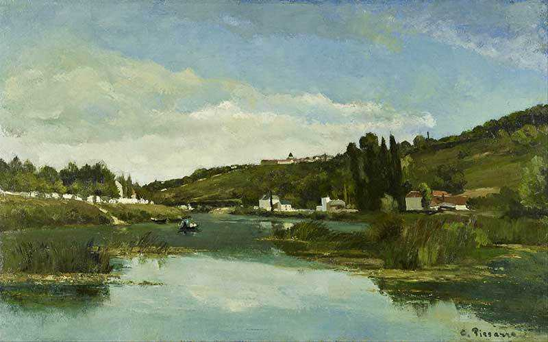 Pissarro's The Marne at Chennevieres, painted in 1864.