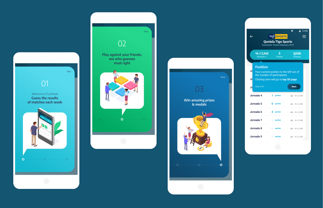 fuchibola App Screens