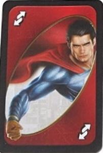 Batman vs Superman Red Uno Reverse Card (Superman)